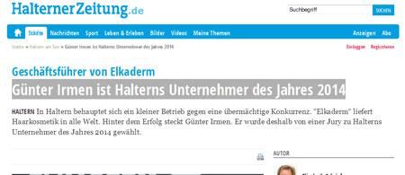 Geschäftsführer-von-Elkaderm--Günter-Irmen-ist-Halterns-Unternehmer-des-Jahres-2014---Halterner-Zeitung